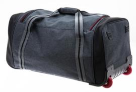 Grote Donkergrijze Charter Bag van Davidts Travel in Grey