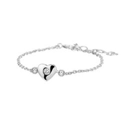 Zilveren Kinderarmband van Zilver met Hart