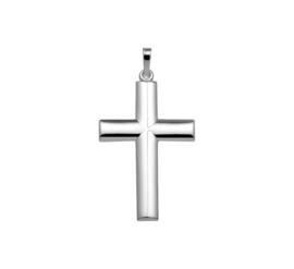 Cilinder Kruis Hanger van Gepolijst Zilver