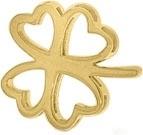 Goudkleurig Klavertjevier ornament