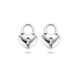Zilveren Oorknoppen Hartje/Slotje