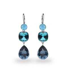 Classico Spark Oorhangers met Blauwe Swarovski Kristallen