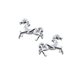 Rennend Paard Oorknoppen van Zilver