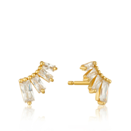 Goudkleurige Bar Stud Earrings van Ania Haie
