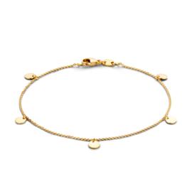 Excellent Jewelry Geelgouden Armband met Hangertjes