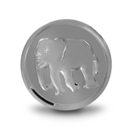 LOCKits Zilverkleurige Olifant Munt 25mm