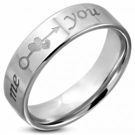 Romantische Tekst Ring van Edelstaal - Graveer Ring