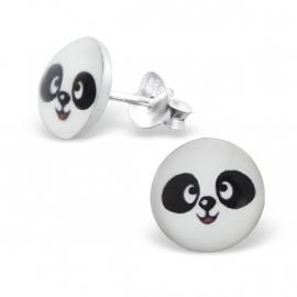 Panda Zilveren Oorbellen