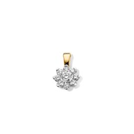 Excellent Jewelry Geelgouden Hanger met 0,21 crt. Briljant