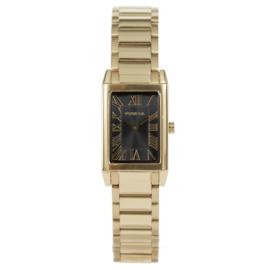 Klassiek Rechthoekig Goudkleurig Dames Horloge van Prisma