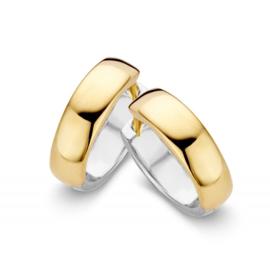 Excellent Jewelry Brede Bicolor Creolen voor Dames