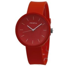Prisma Rood Unisex Horloge met Rode Band