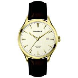 Prisma Goudkleurig Balm Heren Horloge