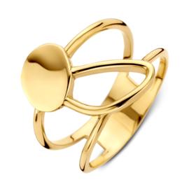 Excellent Jewelry Geelgouden Ring met Lus en Ovaaltje