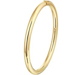 Gouden Bangle Armband met Scharnier