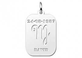 Names4ever Astrologie Maagd Zilver Hanger ZHS006