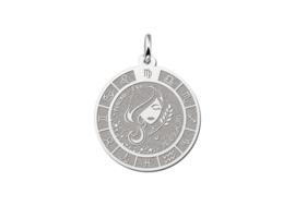 Zilveren Maagd Sterrenbeeld Bedel met Naam ZHS090 | Names4ever