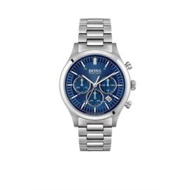Hugo Boss Horloge Metronome Zilverkleurig Horloge met Blauwe Wijzerplaat van Boss