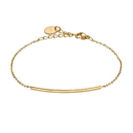 Goudkleurige Armband met Gekromde Staaf Hanger van M&M