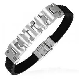 Zwart rubberen armband