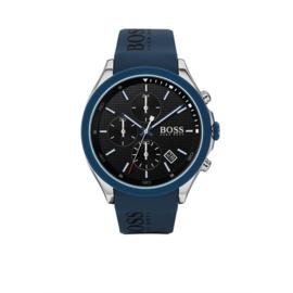 Hugo Boss Horloge Velocity Zilverkleurig Horloge met Blauwe Band van Boss