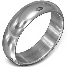 Half- ronde glanzende stalen ring - Graveer Ring SKU66355
