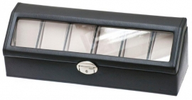 Horlogebox zwart + Glasdeksel
