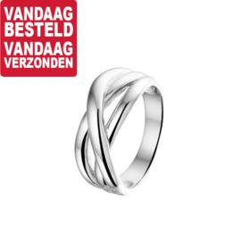 Zilveren Ring met Drie Brede Stroken | Ringmaat 19