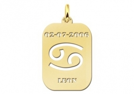 Names4ever Astrologie Kreeft Goud Hanger in Goud GHS004
