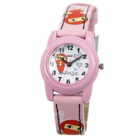 Q&Q Horloge / Roze Lederen Band