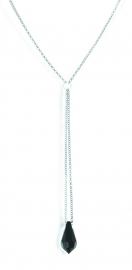 Rolo Zwarte Swarovski Ketting van Spark Jewelry