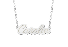 Names4ever Carolin Model Zilveren Naamketting van Names4ever
