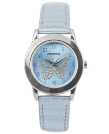 Lichtblauw Butterfly Meisjes Horloge met Blauwe Horlogeband