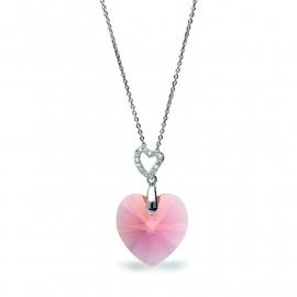 Tender Heart Roze Swarovski Ketting van Spark Jewelry