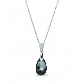 Druppel Zwarte Swarovski Ketting van Spark Jewelry