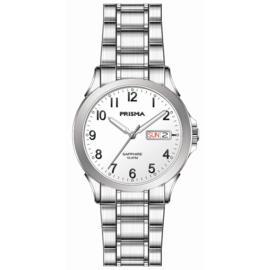 Prisma Zilverkleurig Brace Solid Heren Horloge