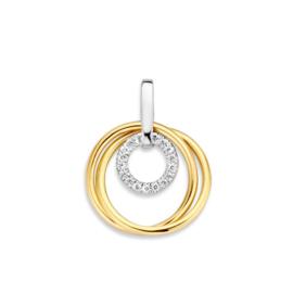 Excellent Jewelry Opengewerkte Dubbele Gouden Cirkel Hanger