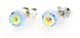 Regenboog Swarovski Bol Oorstekers van Spark Jewelry