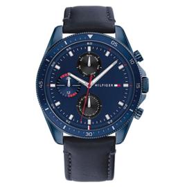 Tommy Hilfiger Horloge voor Heren met Blauw Leer TH1791839
