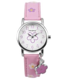 Little Flower Roze Meisjes Horloge met Bloem Bedel