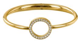Goudkleurige Open Zirkonia Cirkel Bangle Armband van Tommy Hilfiger