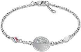 Zilverkleurige Armband met Rondje van Tommy Hilfiger