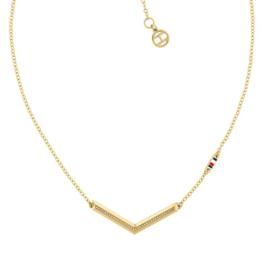 Goudkleurig Collier met V-vormige Hanger voor Dames van Tommy Hilfiger