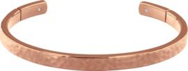 Tommy Hilfiger Roségoudkleurige Gehamerde Dames Armband van Edelstaal