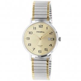 Prisma Horloge 1753 Heren Edelstaal Rekband met Datum