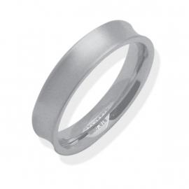 Egale Holle Ring van Edelstaal van C MY STEEL - Graveer Ring