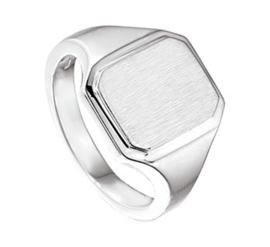 Brede Graveer Ring van Gepolijst Zilver voor Jongens