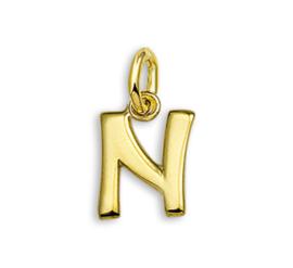 Gouden Letter Bedel Hanger – N