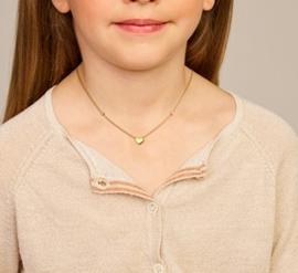 Goudkleurige Ketting met Hartje voor Meisjes