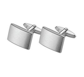 Rechthoekige Bolstaande Zilveren Manchetknopen